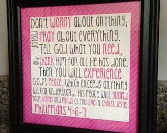 Philippians 4:6-7 Wall Art