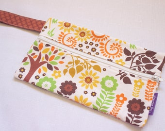 """CLEARANCE - Zipper Pouch Medium, Great Knitting or Sewing Notion Pouch, 8.75x5.25"""", Fully lined"""