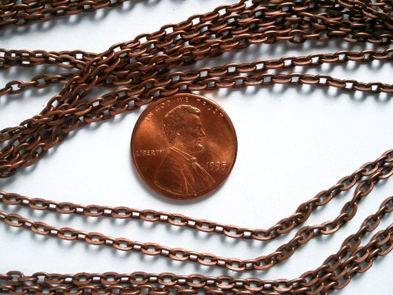 Basket Weaving Supplies Kentucky : Copper tone opened cable chain unfinished jewelry supply