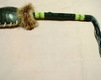 Turtle Shell Rattle Peyote Stick - Handcrafted Peyote Sticks - MtManCreations