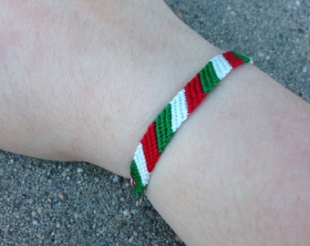 The Italian or Mexican Flag Friendship Bracelet