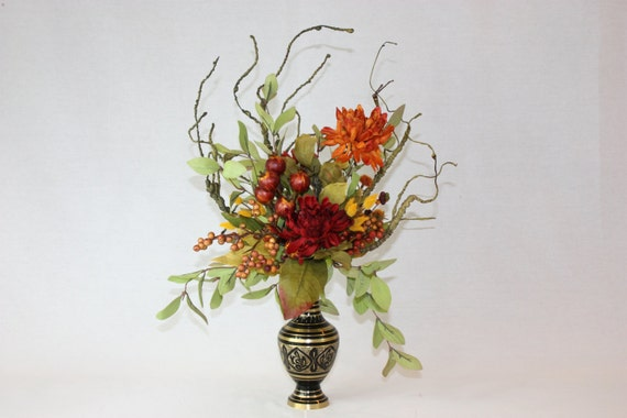 silk flower arrangement unique home decor artificial faux - Silk Arrangements For Home Decor