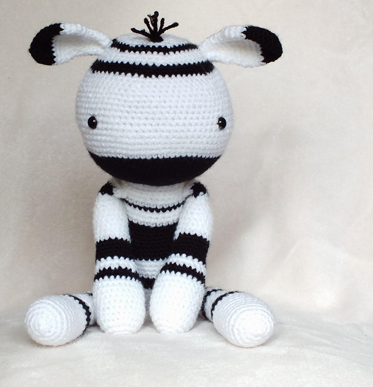 Crochet Amigurumi Zebra PATTERN ONLY Plush PDF Instant