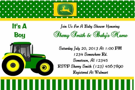 john deere party invitations free was nice invitation sample - John Deere Party Invitations