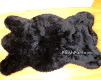 Chubby Bear Luxury Faux Fur Area Rug/ Bear Shape Sheepskins/ Fake Taxidermy  Bear Skin