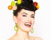 Carmen Fruit Hair Clips Set - Tiki Hawaiian 40s WWII - Rockabilly Pinup Clips