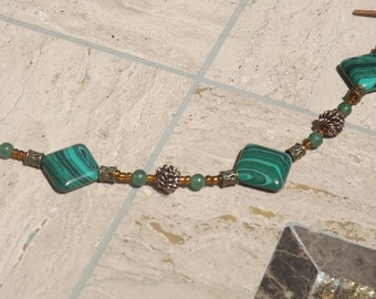 Malachite and Aventurine Bracelet