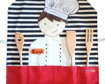 Personalized apron for Little Chef, kids love to cook, personalized gift for christmas, unique-gif-for-kids