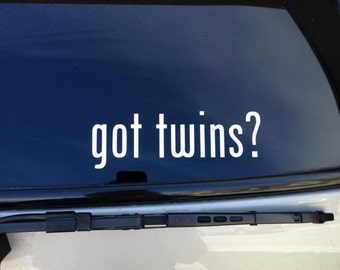 got twins car vinyl decal got twins