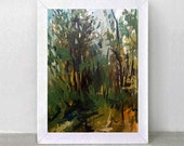 Original Painting - Landscape-Etude-Size-11.8 inch / 18.8 inch.Free Shipping