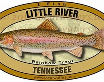 Little River Rainbow Trout Fishing Decal Sticker
