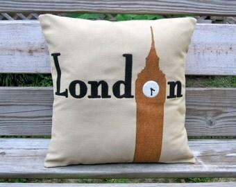Big Ben Pillow - London Pillow Cover