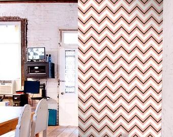 Removable Chevron print self-adhesive vinyl Wallpaper wall decal - Chevron pattern C002