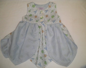 Size 2T Sleeveless Tulip Petal Dress with Matching Bloomers