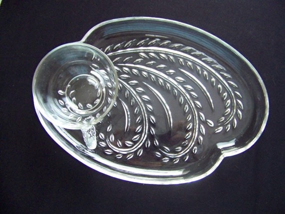 Federal glass co hospitality snack set by