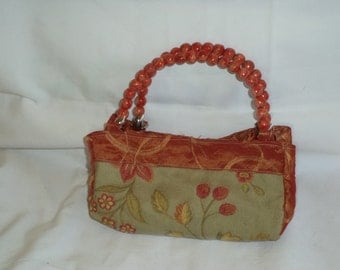 Gold and Sage Evening Bag