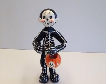 Halloween skeleton cake topper,table decor