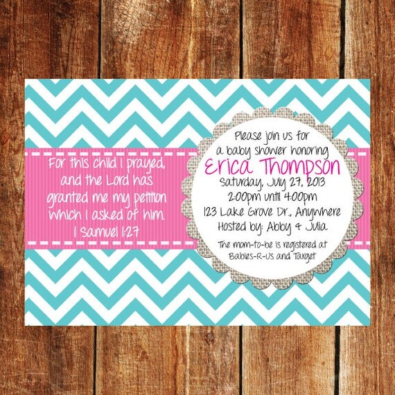 baby shower invitation baby girl bible verse baby shower invitation
