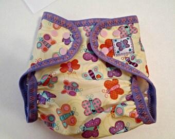 "Diaper Cover, Babyville Boutique ""Sweet Stuff Butterflies"" pattern"