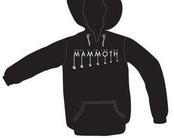 Ski Hoodie, Snowboard Hoodie, Pullover, Mammoth Chairlift hoodie - by Kiss a Cow