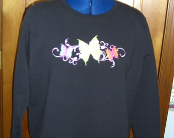 Black Butterfly Sweatshirt
