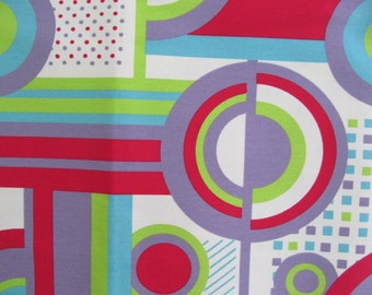 GEOMETRIC PATTERN Contemporary Cotton Print Upholstery Fabric