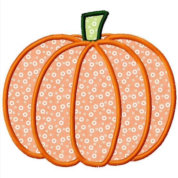 Halloween pumpkin applique machine embroidery design