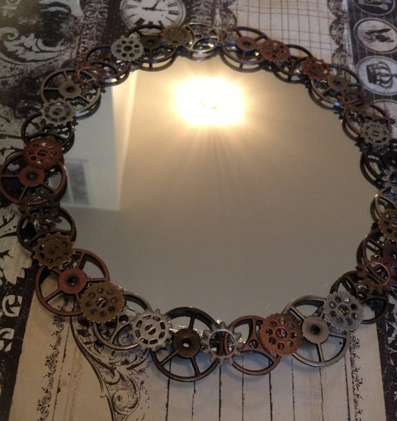 Items Similar To Steampunk Mirror, Or Wall Hanging On Etsy