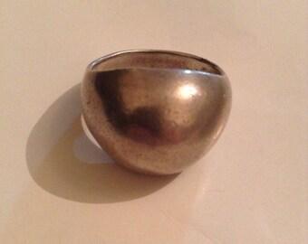 Vintage Mod Sterling Silver Domed Ring