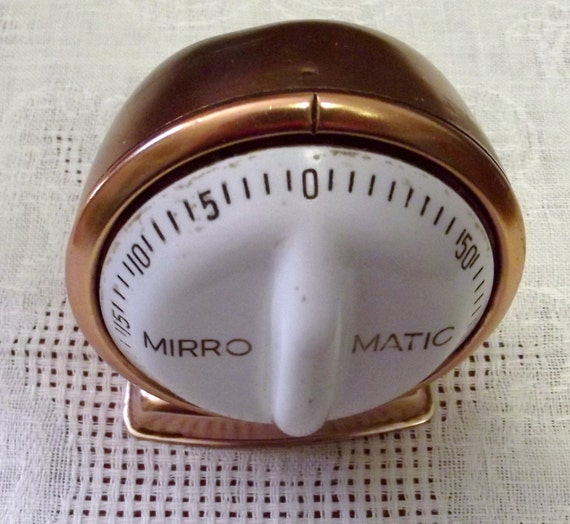 Vintage Copper Mirro Matic Kitchen Timer