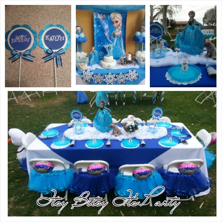 Frozen Party Frozen Banner Frozen Decoration By