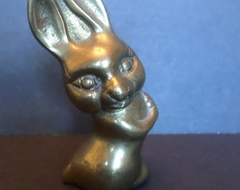 Vintage Brass Leonard Bunny Rabbit