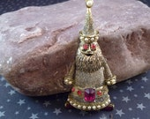 Vintage Collectible Christmas Santa Claus Pin by Hollycraft