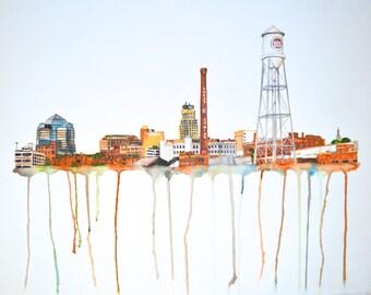 Durham Skyline 12x18
