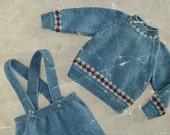 WINTER SALE Harmony 132 vintage PDF Baby Knitting Pattern, Baby Romper Suit