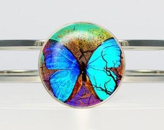 Butterfly bracelet Butterfly bracelet Butterfly jewelry aqua turquoise
