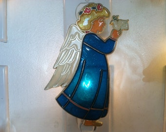 Blue Angel Night Light  4 watt  on/off switch