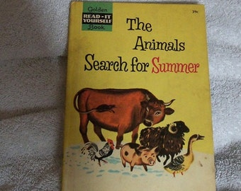 Vintage Golden Book The Animales Search for Summer