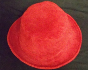Vintage New Zealand Leather Red Hat