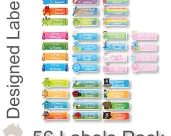 Personalised designed name labels stickers
