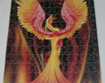 "Scroll saw puzzle ""Phoenix"""