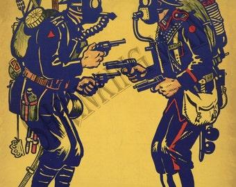 VINTAGE 1930's  poster -  World War 2 -  A3 (42 x 29.7)cm