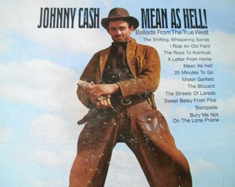 RARE -Johnny Cash- Mean As Hell- vinyl record