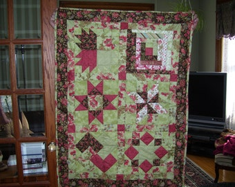 Shangri La Lap quilt - flannel backed