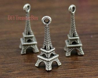 20pcs--Eiffel Tower charms,Antique Tibetan silver Eiffel Tower Charm Pendant 23x8mm