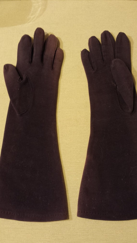Vintage Womens Dress Long Gloves- Navy