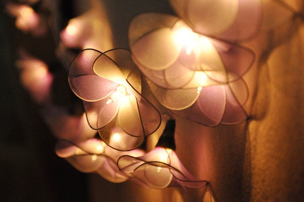 Light Purple String Lights : light purple flower string lights for PatioWeddingParty and