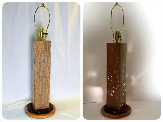 table lamp desk light made of oak wood handcrafted. Black Bedroom Furniture Sets. Home Design Ideas