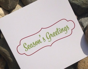 Christmas Cards, Holiday Card Set, Personalized Christmas Cards - Seasons Greetings