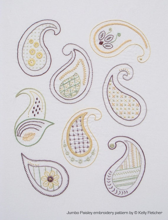 Paisley Hand Embroidery Designs Ausbeta